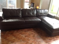 Chocolate Brown Sofa with Chaise, 5 - 6 seater Burlington, L7P 1Y6
