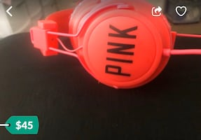 Pink headphones by Victoria Secret/ Pink