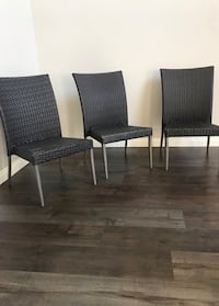 SET OF 3 wicker chairs GREAT CONDITION! (((Pickup Only!!!!)))