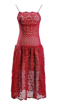 Red lace dress 4