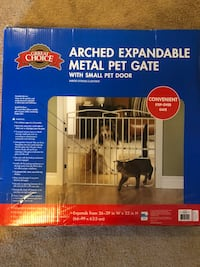 white metal Arched expandable metal pet gate box Fayetteville, 28314