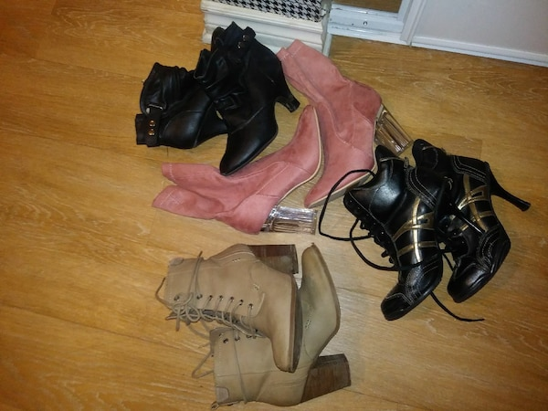 four pairs of boots