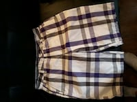 white, black, and purple  plaid shorts  Hamilton, L9G 2X6