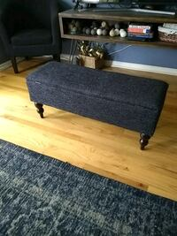 Blue Fabric Ottoman, opens up for storage as well Chicago, 60640
