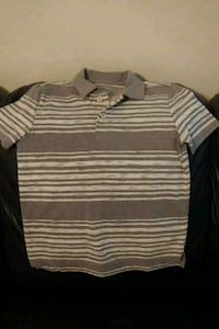white and gray striped polo shirt Ocala, 34470