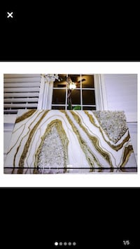 White and gold geode art  Milton, L9T 5H9