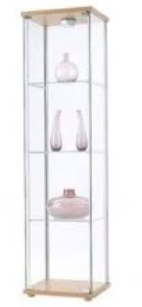 Used Ikea Detolf Glass Door Cabinet Plz Read The Description For