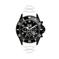 Chrono watch, White Silicone strap 561 km