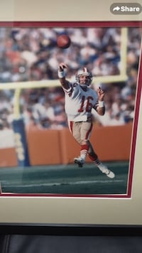 San Francisco Joe Montana Framed Frederick, 21702