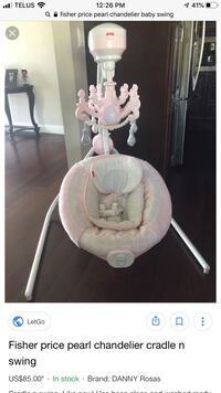 Fisher Price Cradle and Swing Mississauga, L5M 8C5