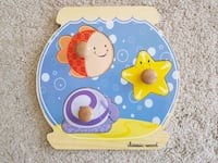 Large Wooden Starter Puzzle for Toddlers