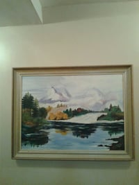 brown wooden framed painting of house near body of water Toronto, M9V 1B3