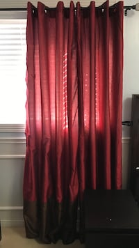 Red and brown Curtains Milton, L9T 5R8