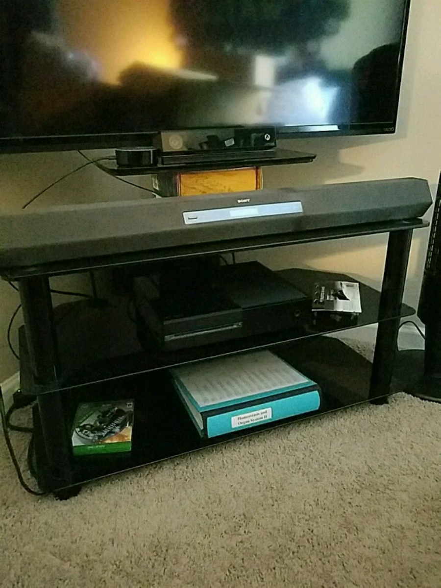 used black glass corner tv stand for sale in lilburn letgo rh us letgo com