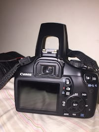 black Canon EOS DSLR camera London, N6A
