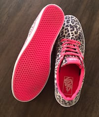 pair of red-and-white Vans sneakers Corona, 92879