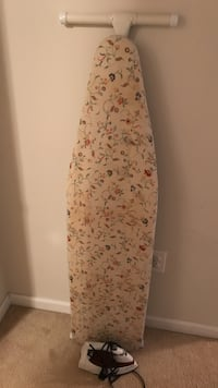 beige floral ironing board and white steam iron Stephens City, 22655