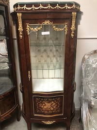 Brown wooden framed glass display cabinet Fountain Valley, 92708