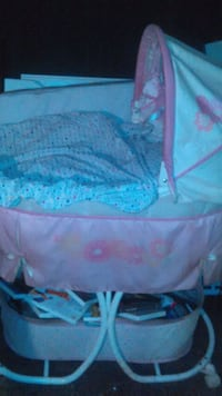 baby's blue and white bassinet Lady Lake, 32159