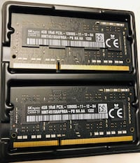 SK Hynix Ram memory 8GB (2 x 4GB) 8GB DDR3 1600MHz Memory SO-DIMM 204pin PC3L-12800S AIO and Laptops 504 mi