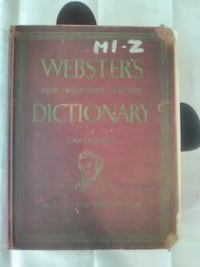 Websters Dictionary unabridged Second Edition...M-Z JOHNSONCITY