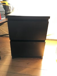 Black side table with drawers  Los Angeles, 90037
