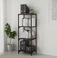 Fjällbo Shelf Unit - Black/ Brown - IKEA