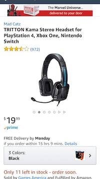 black and gray Logitech G-series headset screenshot Santa Maria, 93454