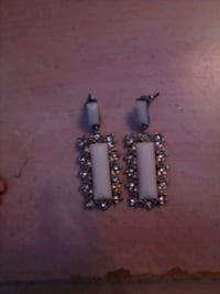 two silver and diamond studded earrings Lake Elsinore, 92532