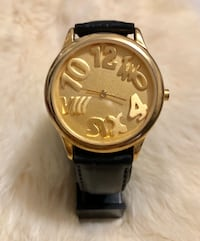 LE BARON ROUND GOLD-COLORED CHRONOGRAPH LADIES WATCH
