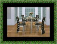 Counter height glass dining table with 4 chairs Largo, 20774