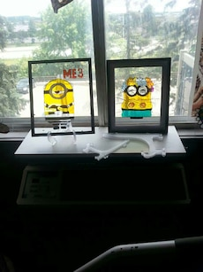 Minions stained glass art