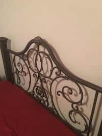 Very negotiable. Wrought iron head/foot board SERIOUS INQUIRIES ONLY Indian Head