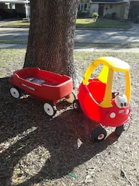 red and yellow Little Tikes cozy coupe Deer Park, 77536