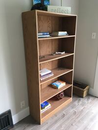 Large Solid Wooden Bookcase