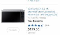 Samsung Counter Microwave