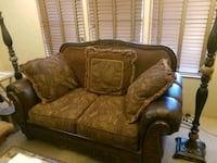 Leather and cloth Loveseat Largo, 33778