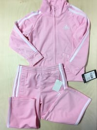 ADIDAS KIDS CHILDRENS TRACK SUIT PINK SIZE TODDLER 3 YEARS SWEATER PANTS HOODIE Edmonton, T6J