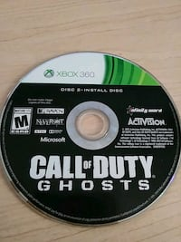 Call of Duty Ghosts Xbox 360 game disc Mesa, 85202