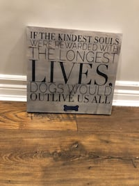 Brown wooden quote wall decor Whitby, L1M 0E5