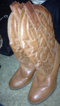 pair of brown leather cowboy boots Zumbro Falls, 55991