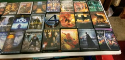 DVD, mostly action, 6 for $5.00