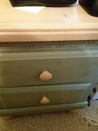 grey wooden 2-drawer chest Johnstown, 15905