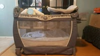 baby's gray and white Graco pack n play Houston, 77066