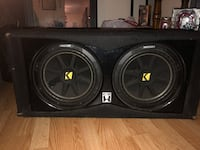2 12 kicker comps w/ dual ported box and amp  Columbus, 43219