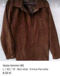 capture d'écran de la veste brune button-up Lestiac-sur-Garonne, 33550