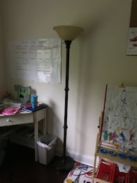 Metal floor lamp with glass shade Sparta Township