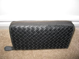 Bottega Veneta Style Long Zipper Leather Wallet
