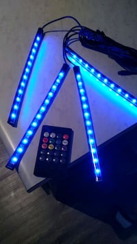 Led car strip light with remote control