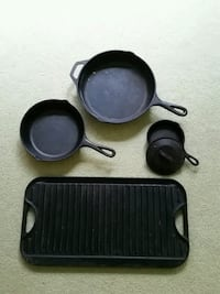 Lodge cast iron skillets & griddle Alexandria, 22309
